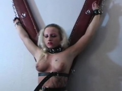 Nipple torture and bugger up..