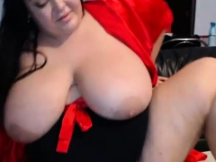 Hottie Bbw Caught On Webcam