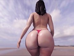 Big Ass on D'Beach!