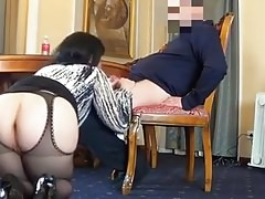 Boss fucks Russian BBW slut