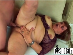 Hairy pussy banged in chubby..