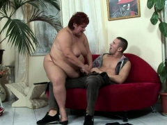 Horny big woman seduced..