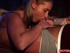 Big tits milf blowjob with..