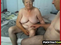 Granny and grandpa naked on..