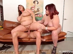 2 Big Tit BBW MILFS Up atop..