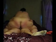 BBW riding a chubby fixed..