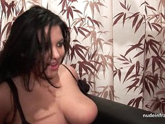 Casting young BBW in fishnet..