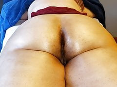 Rubbing her soft ass and..