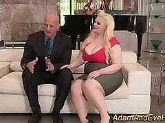 Bbw gets mouth cummed in