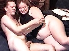 Obese milf takes some cock..