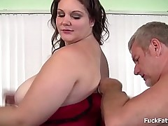 Beautiful brunette bbw gets..