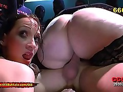 BBW mollycoddle vs Brunette..