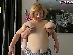 mature lesbian broad in the..
