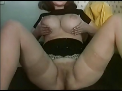 Chubby Ex GF plays with her..