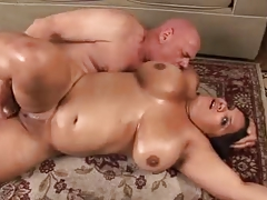 Lovely BBW with huge natural..