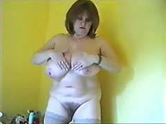 Mature Shows Off Huge..