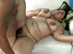 Bbw brunette with hairy..