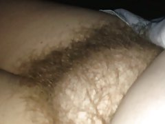 revealing her soft hairy..
