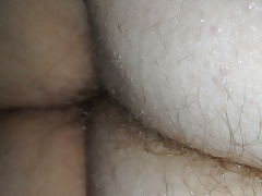 wifes hairy butt crack under..