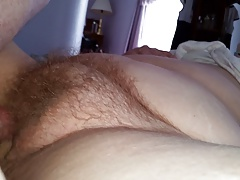 rubbing my cock on her hairy..
