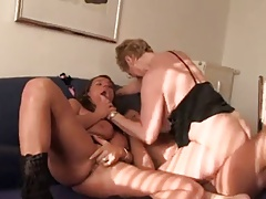 2 big titted women give..