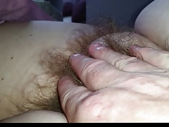 fingers full of soft pubic..