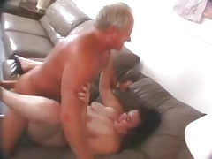 Chubby hairy chick fucked by..