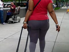 Thick Candid In Thin Spandex..