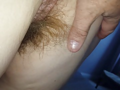 her long hairy pussy hair..