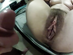 Wow big hairy pussy getting..