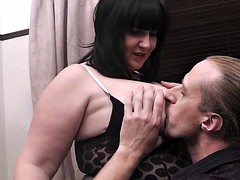 Buxom brunette gets will not..