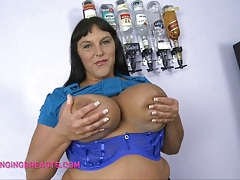 A Barmaid with fat heavy..