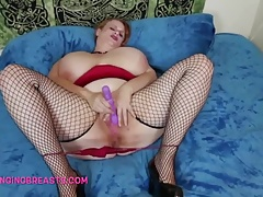 A very fat breasted lady..