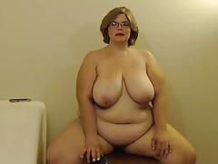 Chubby in glasses