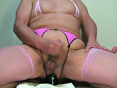 prostate milking with black..