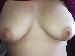 Slow motion big tits drop..