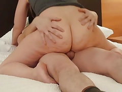 Big Ass Hot Wife Rides Young..