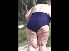 comely bbw granny in blue..