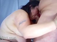 Fat MILF Gets a Cock in The..