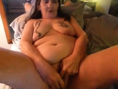 Stacked brunette goes solo..
